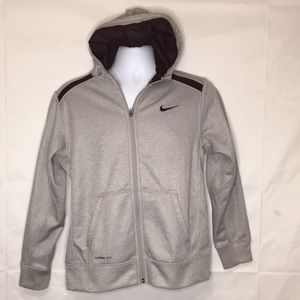 Nike Therm Fit Hoodie Girls XL fleece lining gray